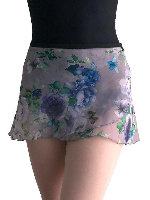 WS169 Wrap Skirt: Flowers a Flutter