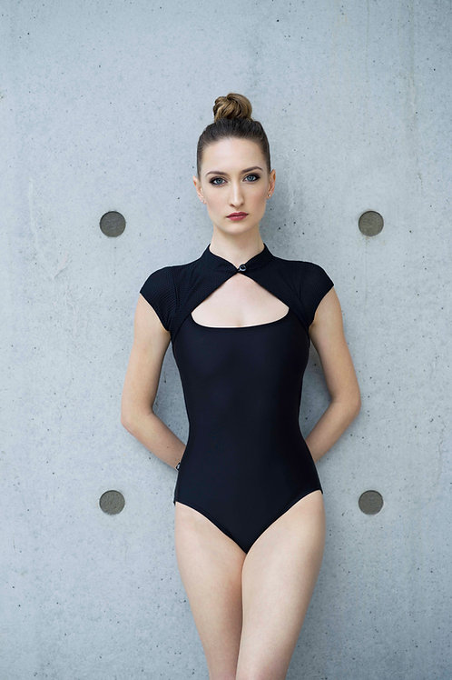 Bezel Leotard: Black