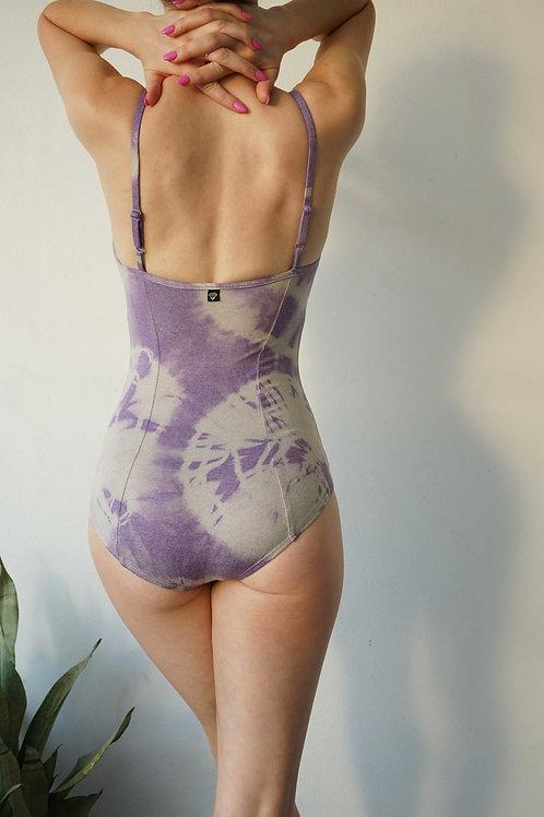 Princess Leotard: Tie Dye Purple +Grey