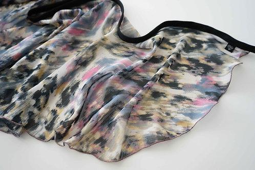 WS135 Wrap Skirt: Dusty Leopard