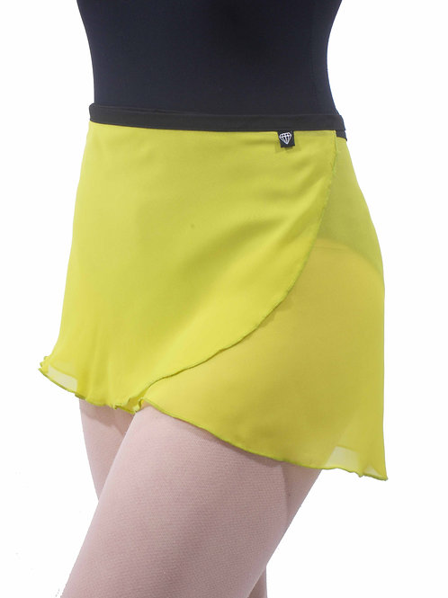 WS72 Wrap Skirt: Chartreuse