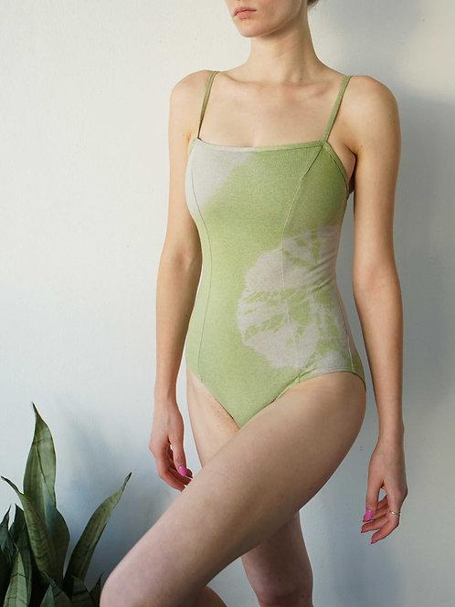 Princess Leotard: Tie Dye Green +Grey