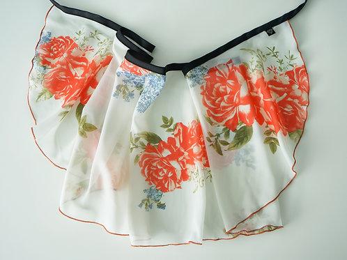 WS180 Wrap Skirt: Persimmon Rose