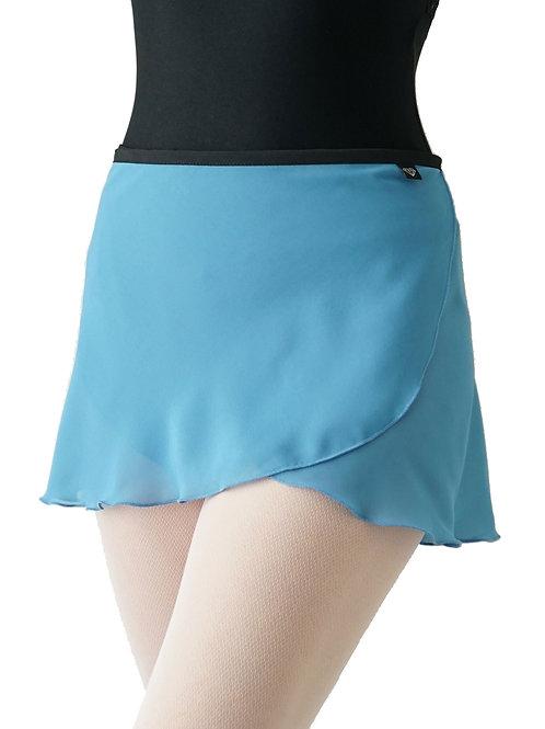 WS194 Wrap Skirt: Cornflower Blue