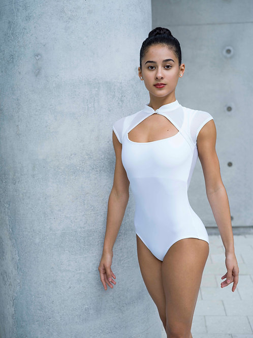 Bezel Leotard: White