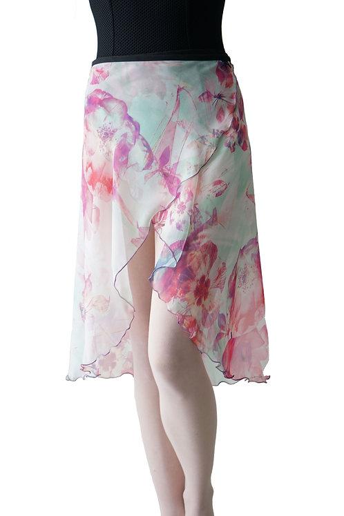 Long Wrap Skirt: Oasis