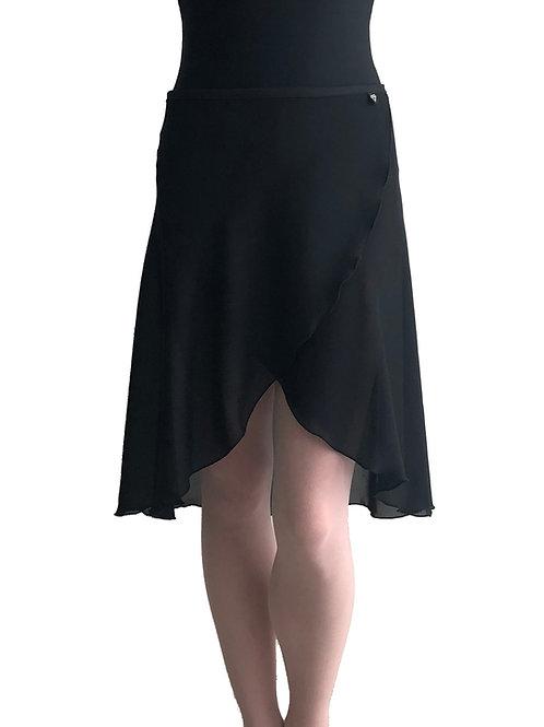 Long Wrap Skirt: Black