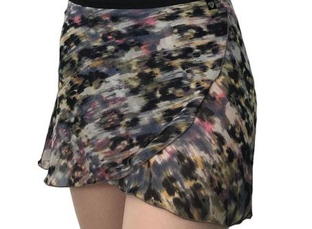 NEW: Dusty Leopard Wrap Skirt.