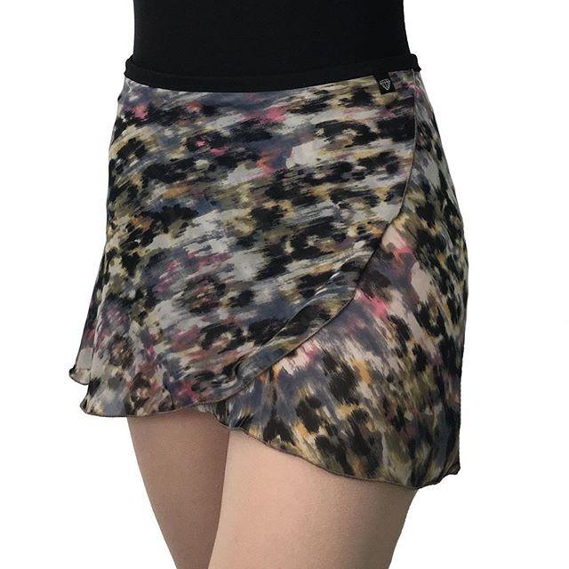 Dusty Leopard Wrap Skirt