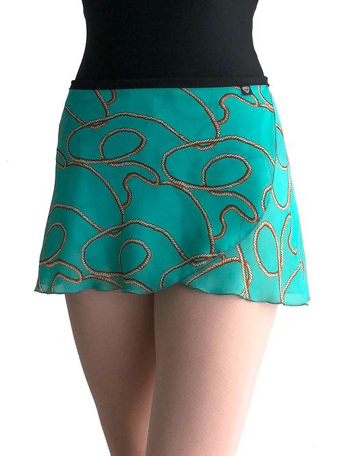 WS155 Wrap Skirt: Aqua Lasso