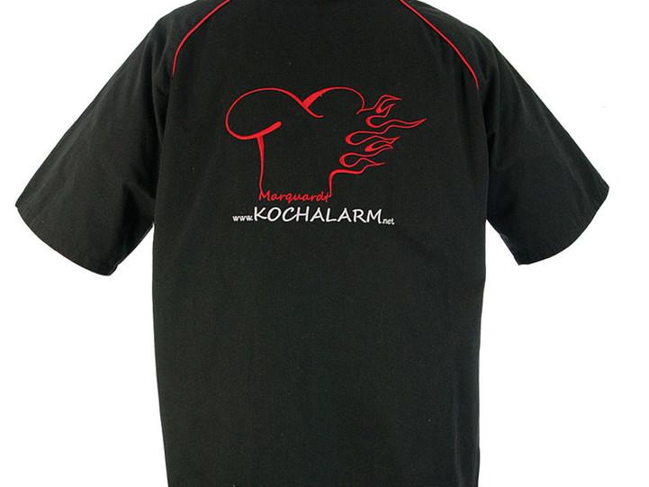 Polo-Shirt mit zweifarbigem Logo bestickt