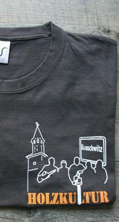 T-Shirt mit Siebdruck Logo Holzkultur