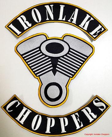 Colour Ironlake Choppers gestickt