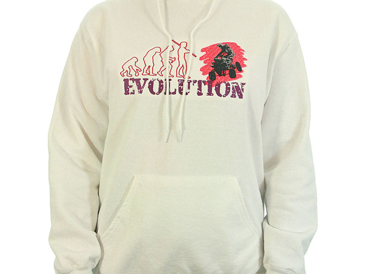 Hoodie mit großer Bruststickerei QUAD Evolution