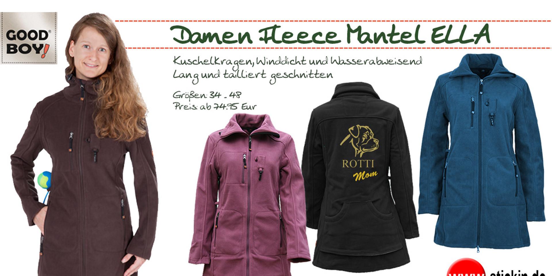 Fleece Mantel ELLA in vier Farben