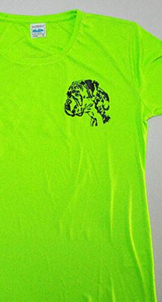 T-Shirt mit Siebdrucktransfer Boxer Kopf