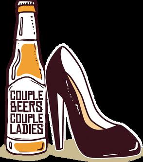 Couple Beers Couple Ladies Podcast Logo
