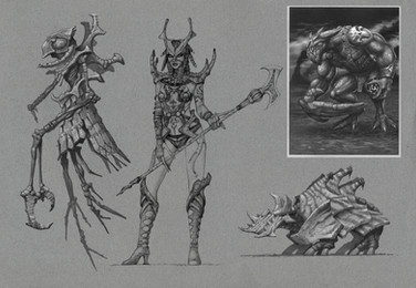 Mythica Fire Creatures