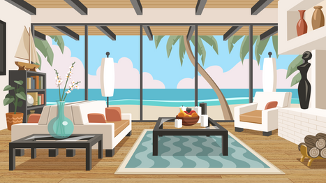 Beach House vector background