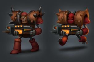 Hellevator character concepts