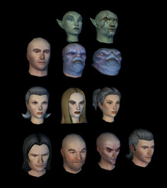 Player Character Head Models/Textures