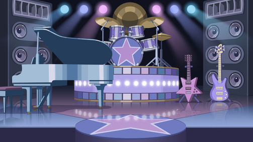 Rock Stage vector background