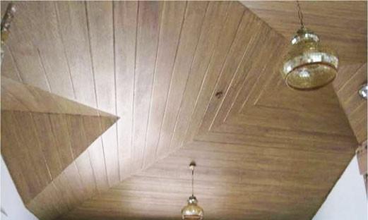 ฝ้าเพดานแบบเฌอร่าไม้เทียม
