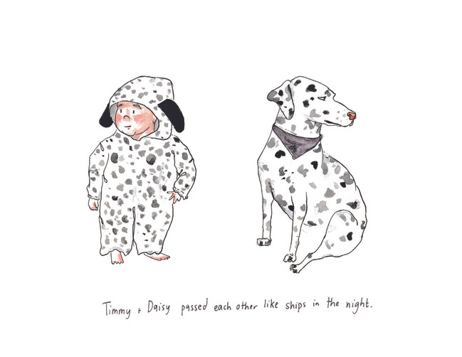 Timmy and Daisy Watercolor Illustration