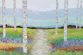 Spring Aspens Landscape