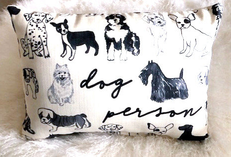 Dog Person Pillow