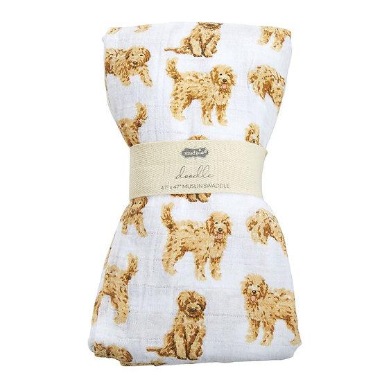 Dog Muslin Swaddle Blanket