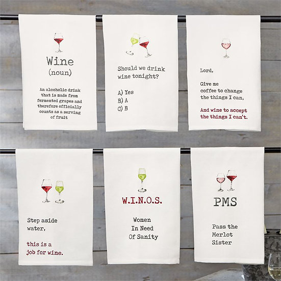 Wine Tea Towels