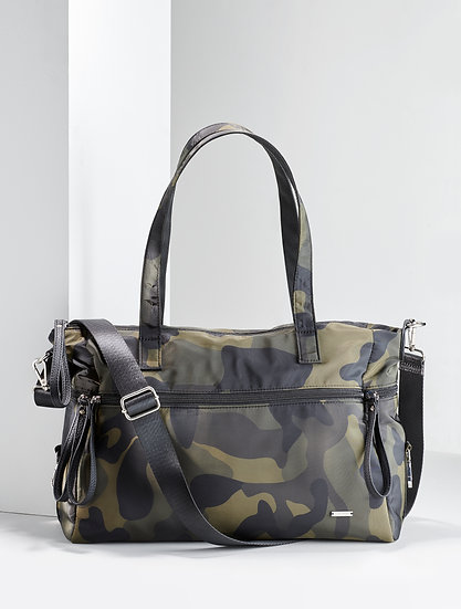 Charlie Paige Small Camo Tote