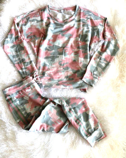 PJ Salvage Pink Camo Set