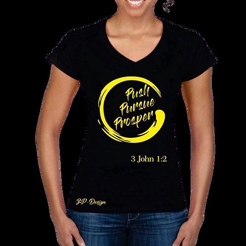 Push Pursue Prosper in Black Circular