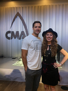 Walker Hayes at the CMA office