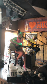 Playing with my friend, Mark Box, during CMA Fest at the Swingin' Doors Saloon