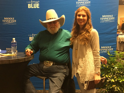 Charlie Daniels came to sign his new books at MTSU