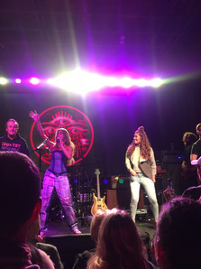 Kassi Ashton invited a couple of audience members on stage to dance to her last song at Exit In