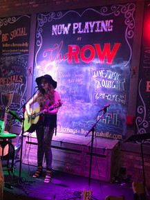 My first gig at The Row