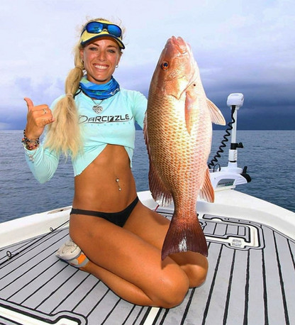 Darcizzle with a mangrove snapper