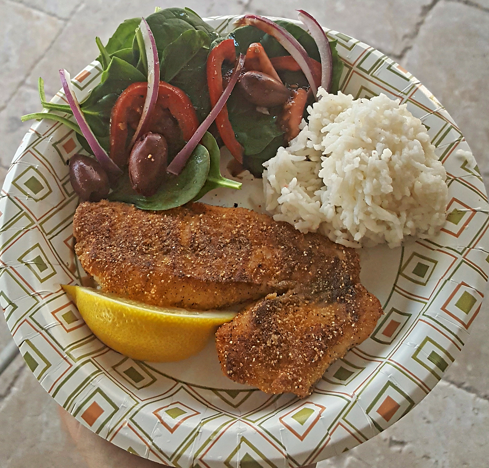 Spicy Pan fried snapper caught on Filet show fishing charters. Sebastian's fastest charter boat.