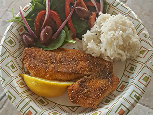 Spicy Pan Fried Snapper