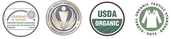 Organic Certifiation, CPSIA, Confidence in Textiles, GOTS, USDA