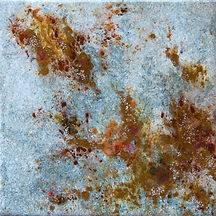 mineral pigments painting on tile