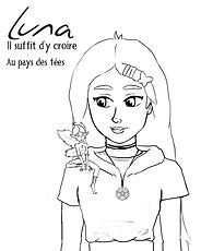 Luna Tome2 Luna et Fay lineart coloriage