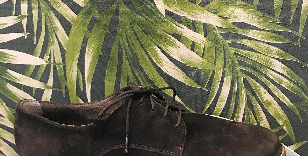 Black Suede Lace-Up Shoe