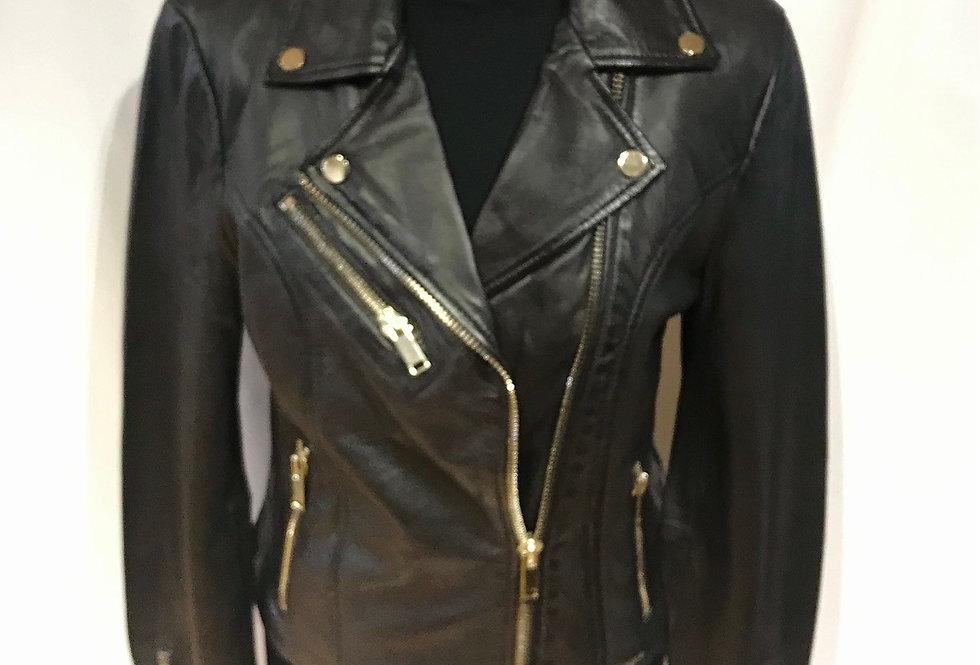 Biker Leather Jacket Ghost Brown