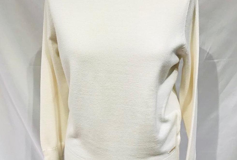 Cream Turtle Neck Sleeve Detail