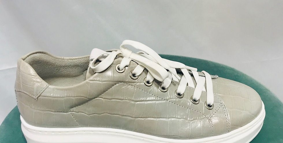 Grey Leather Trainer